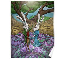 Dancing Bunnies Poster
