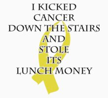Cancer Bully (Yellow Ribbon) One Piece - Short Sleeve