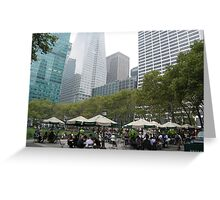 Bryant Park at Lunch Time, New York Greeting Card