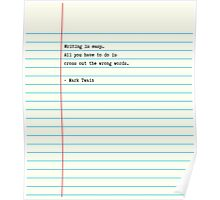 Writing is Easy... Poster
