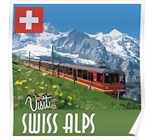 Vintage Travel Poster Swiss Alps Poster