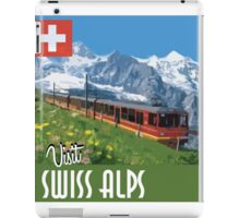 Vintage Travel Poster Swiss Alps iPad Case/Skin