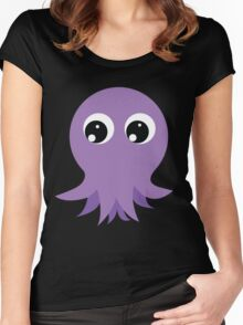 Cute Octopus Women's Fitted Scoop T-Shirt
