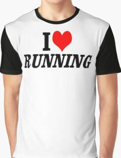 I  Love Running Graphic T-Shirt