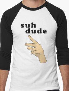 Suh Dude meme | Black Letters Men's Baseball ¾ T-Shirt
