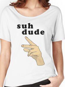 Suh Dude meme | Black Letters Women's Relaxed Fit T-Shirt