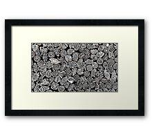 Black Doodles Framed Print