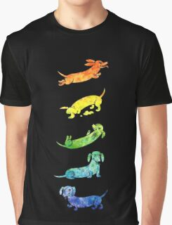Watercolor Dachshunds Graphic T-Shirt
