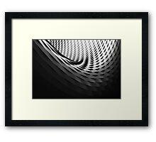 Dark 3D Swirl Framed Print
