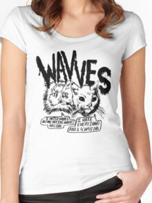 I liked Wavves Before they were cool  Women's Fitted Scoop T-Shirt