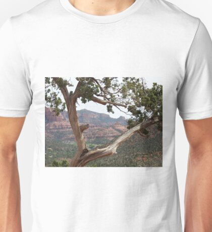 Desert Framed By Juniper Tree Unisex T-Shirt