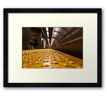 Fast Subway Framed Print