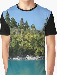 Trees by water, watercolor Graphic T-Shirt