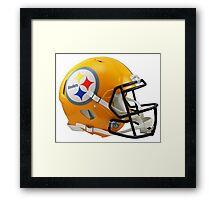 Steelers Helmet Framed Print