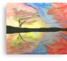 Sunset- Tree Canvas Print
