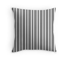 Black and White Piano Stripes Repeating Pattern Throw Pillow