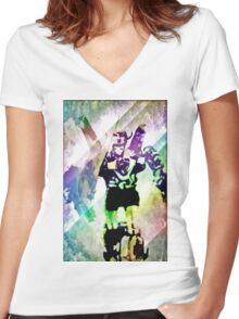 Defenders of the universe Women's Fitted V-Neck T-Shirt