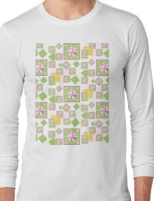 Pink Wildflower Long Sleeve T-Shirt
