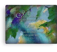 Do Great Things - Wisdom Saying Canvas Print