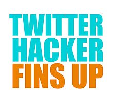 Twitter Hacker Photographic Print