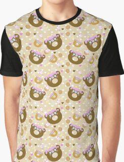 Choco Trixie Bear Donut Graphic T-Shirt