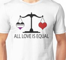 All Love is Equal with Asexual Heart Unisex T-Shirt