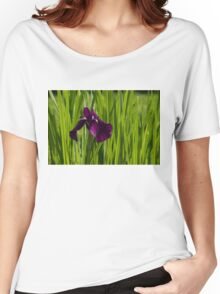 Sunny Green and Purple Summer Women's Relaxed Fit T-Shirt