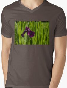 Sunny Green and Purple Summer Mens V-Neck T-Shirt