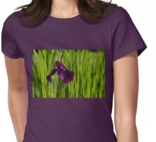 Sunny Green and Purple Summer Womens Fitted T-Shirt
