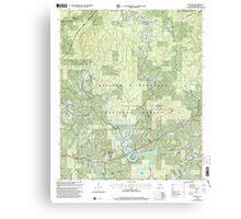USGS TOPO Map Alabama AL Houston 304204 2000 24000 Canvas Print