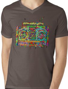 Boom Box Mens V-Neck T-Shirt