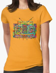 Boom Box Womens Fitted T-Shirt