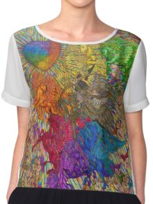 Wings Of Pride; Bow Of Freedom Drawing Chiffon Top