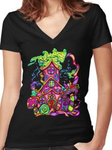 Gnome House Women's Fitted V-Neck T-Shirt