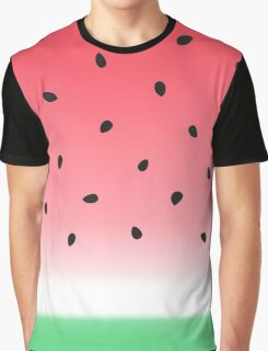 Watermelon Ombre Stripes Graphic T-Shirt