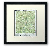 USGS TOPO Map Alabama AL Grayson 304029 2000 24000 Framed Print