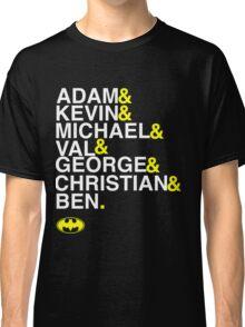 Batman actors shirt & more white version Classic T-Shirt