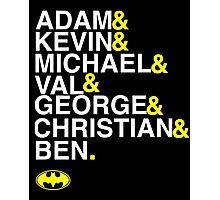 Batman actors shirt & more white version Photographic Print
