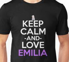 Keep Calm And Love Emilia Anime Shirt Unisex T-Shirt