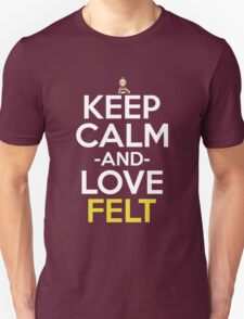 Keep Calm And Love Felt Anime Shirt T-Shirt