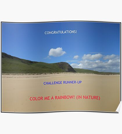 Challenge Runner-up Banner for Color Me A Rainbow! (In Nature) Poster