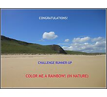 Challenge Runner-up Banner for Color Me A Rainbow! (In Nature) Photographic Print