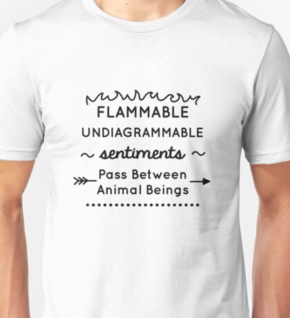 Flammable Undiagrammable Unisex T-Shirt