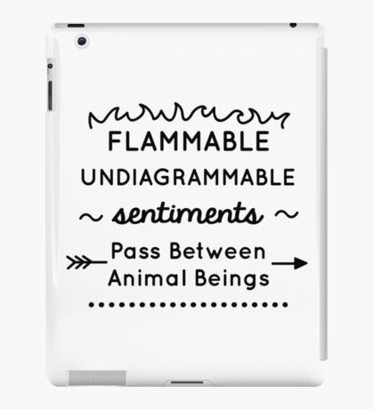 Flammable Undiagrammable iPad Case/Skin