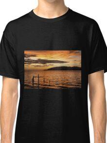 Golden Sunset with Broken Down Pier, Kota Kinabalu Classic T-Shirt