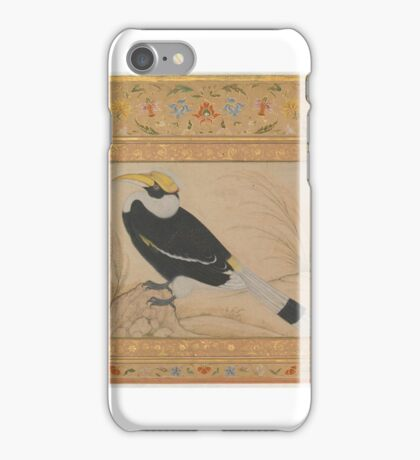 Great Hornbill, Folio from the Shah Jahan Album iPhone Case/Skin