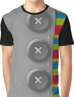 Gray buttons Graphic T-Shirt
