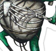 Frog Beater Shirt (Light Background) Sticker