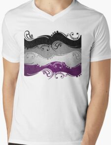 Asexual Ornamental Flag Mens V-Neck T-Shirt