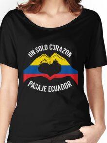 Ecuador - Un Solo Corazon2 Black Women's Relaxed Fit T-Shirt